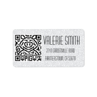 QR Code the Pig Personalized Address Label