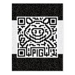 QR Code the Pig Postcard