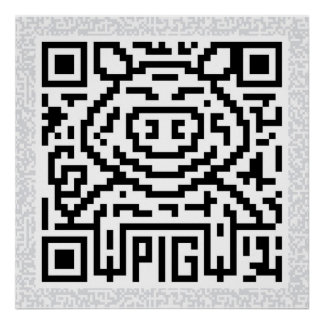 QR Code the Pig Poster