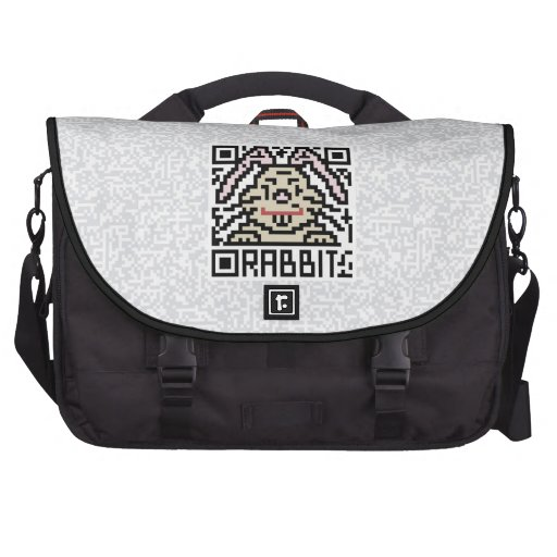 QR Code the Rabbit Bags For Laptop