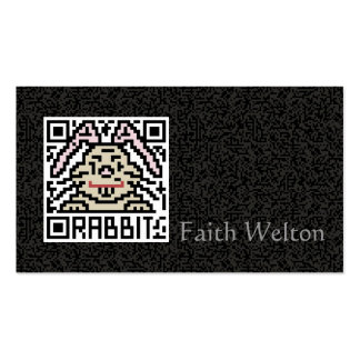 QR Code the Rabbit Double-Sided Standard Business Cards (Pack Of 100)