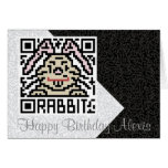 QR Code the Rabbit Greeting Card