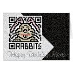 QR Code the Rabbit Greeting Card