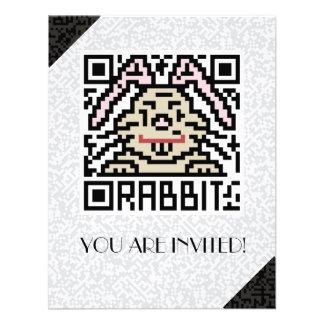 QR Code the Rabbit Custom Invites