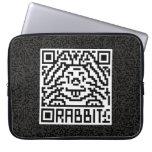 QR Code the Rabbit Laptop Computer Sleeves