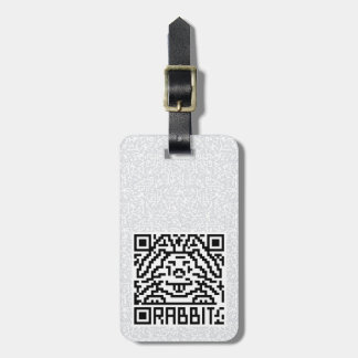 QR Code the Rabbit Luggage Tag