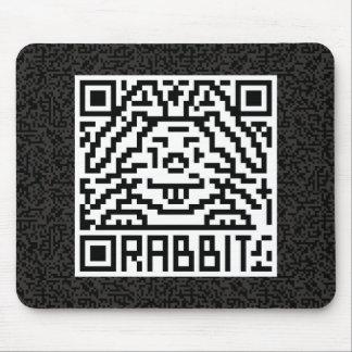QR Code the Rabbit Mouse Pad