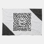QR Code the Rabbit Towels