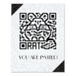 QR Code the Rat 4.25x5.5 Paper Invitation Card
