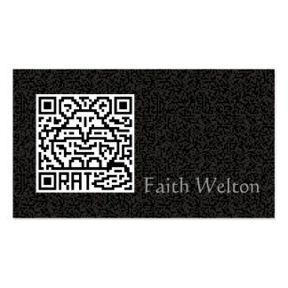 QR Code the Rat Double-Sided Standard Business Cards (Pack Of 100)