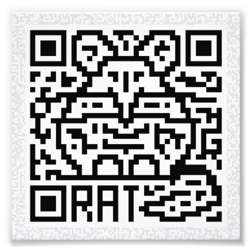QR Code the Rat Photo Print