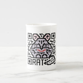 QR Code the Rat Porcelain Mugs
