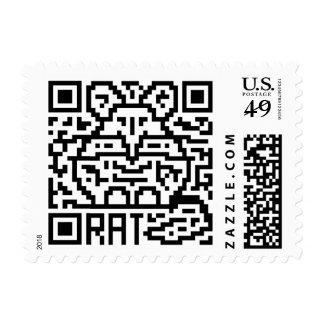 QR Code the Rat Postage Stamp