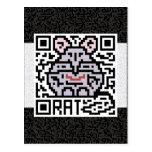 QR Code the Rat Postcard
