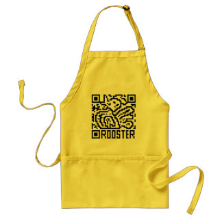 QR Code the Rooster Adult Apron