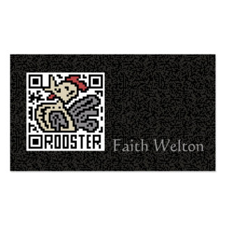 QR Code the Rooster Double-Sided Standard Business Cards (Pack Of 100)