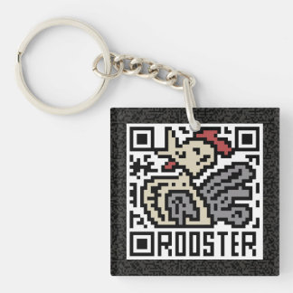 QR Code the Rooster Keychain