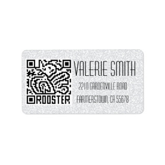 QR Code the Rooster Label