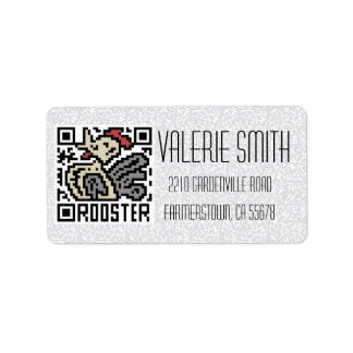 QR Code the Rooster Personalized Address Labels