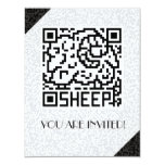 QR Code the Sheep 4.25x5.5 Paper Invitation Card
