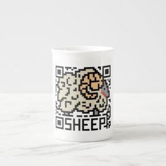 QR Code the Sheep Bone China Mugs
