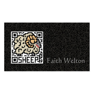 QR Code the Sheep Double-Sided Standard Business Cards (Pack Of 100)