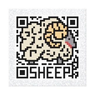 QR Code the Sheep Canvas Print