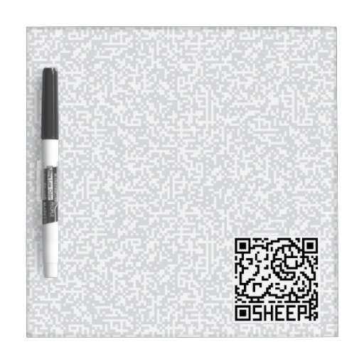 QR Code the SHeep Dry Erase Whiteboards
