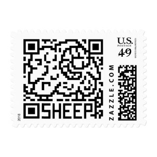 QR Code the Sheep Postage Stamp