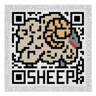 QR Code the Sheep Poster