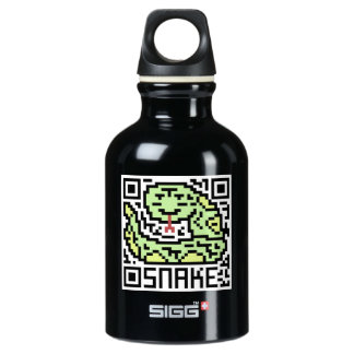 QR Code the Snake Aluminum Water Bottle