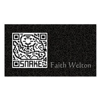 QR Code the Snake Double-Sided Standard Business Cards (Pack Of 100)