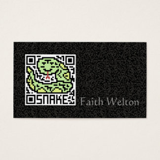QR Code the Snake Business Card