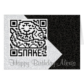 QR Code the Snake Card