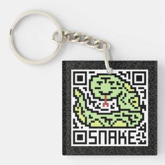QR Code the Snake Keychain