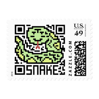 QR Code the Snake Postage Stamps