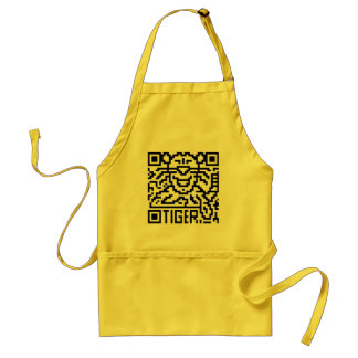 QR Code the Tiger Adult Apron