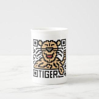 QR Code the Tiger Bone China Mug