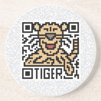 QR Code the Tiger Drink Coaster