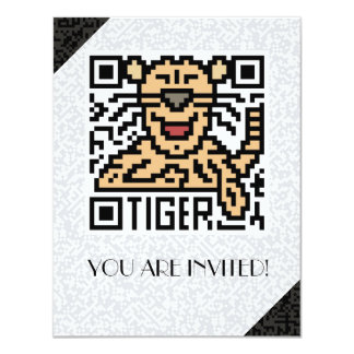 QR Code the Tiger Personalized Invitations
