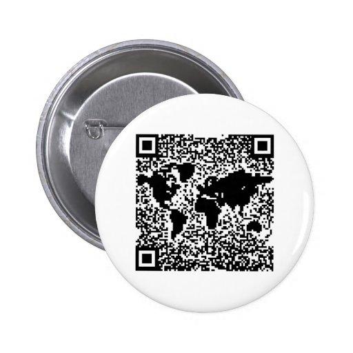QR Code - The World 2 Inch Round Button
