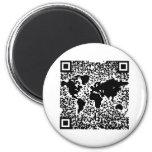 QR Code - The World 2 Inch Round Magnet