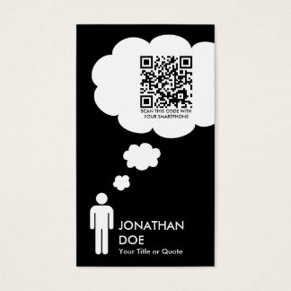 qr code thought bubble business card