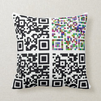 QR Code Throw Pillow