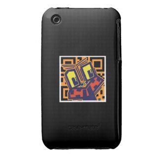 QR Code Tiki iPhone 3 Case-Mate Cases