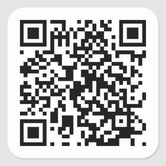 QR Code to RickRoll video!!! Square Sticker
