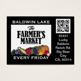 QR Code Traceable Shelftalker for Farmer's Market Business Card