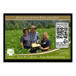QR Code Traceable Shelftalker For Independent Farm Business Card