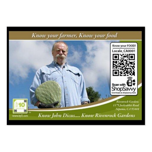 QR Code Traceable Shelftalker (Independent Farm) Business Card Templates