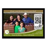 QR Code Traceable Shelftalker (Independent Farm) Business Cards